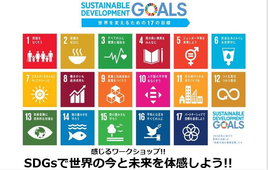 S F C 5月定例会 感じるワークショップ!!  SDGs(エスディージーズ)で世界の今と未来を体感しよう!