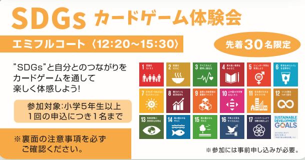 ふれあいフェスティバル~2019SDGsカードゲーム体験会~