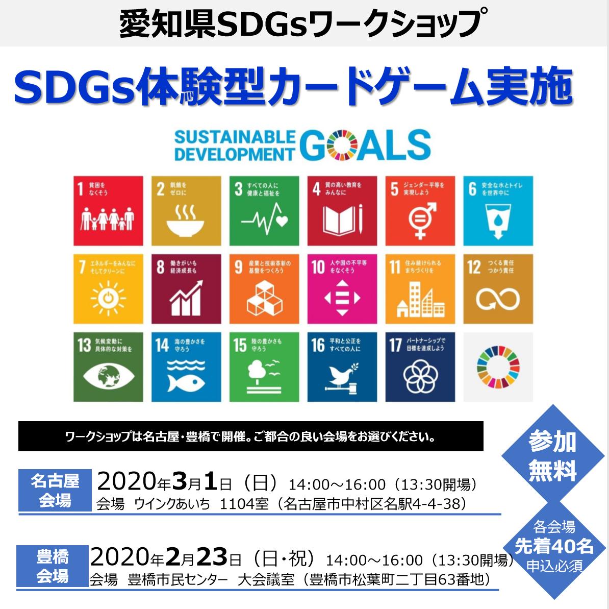 「愛知県SDGsワークショップ」