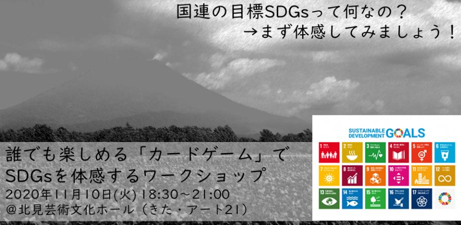 【北海道・北見】11/10SDGsワークショップ カードゲーム「2030SDGs」でSDGsを体感!
