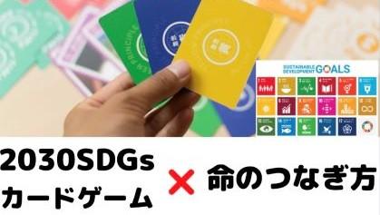『2030SDGsゲーム』×『命のつなぎかた』ワークショップ(リアル開催)